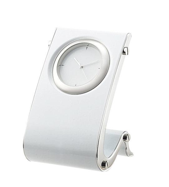 designer desk clock in whitejpg - Designer Desk Clock