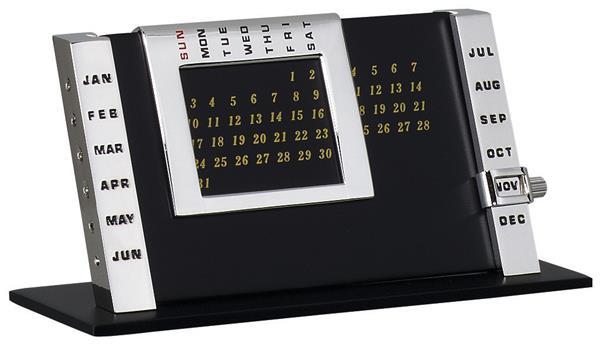 Silver Table Calendar