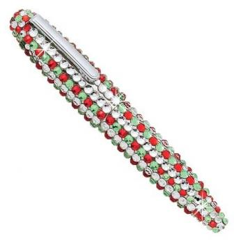 Holiday Bedazzle Crystal Beaded Pen (Bedazzled Crystal Christmas Pen)
