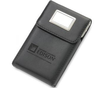 Chic Rectangular Flip Top Business Card Holder