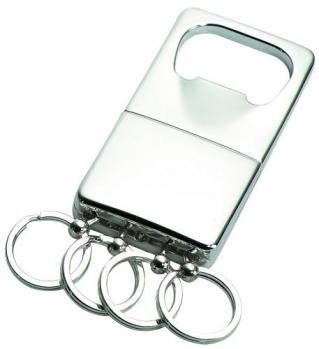 Classic Silver Keychain and Bottle Opener