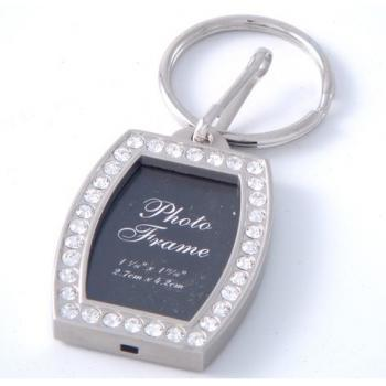 Clear Crystal Stone Key Chain with Photo Frame