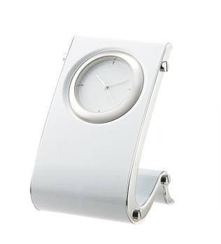 Designer Desk Clock in White.jpg