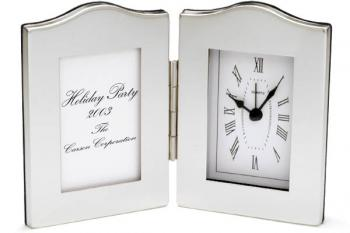 Designer Scallop Picture Frame and Clock