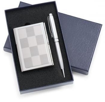 Designer White Classic Pen and Card Set
