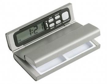 Digital Travel Clock & Pillbox