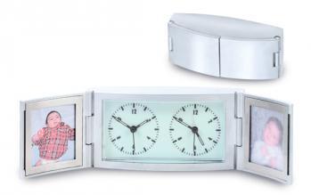 Double Frame Travel Alarm Clock