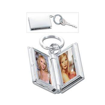 Executive Silver Double frame Key ring
