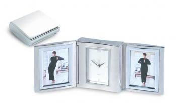 Moderna Double Frame with Clock