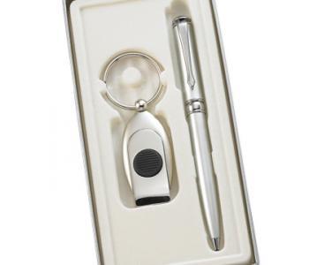 Pen and Green Beam Light Key Ring Set