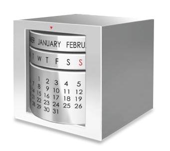 Perpetual Calendar Cube