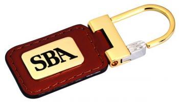 Personalized Leather Keyring