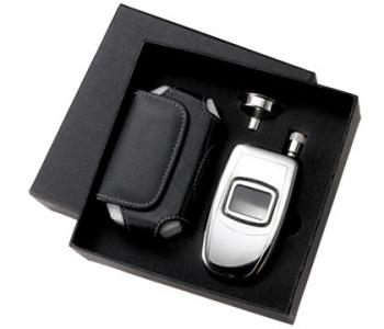 Phone Flask with Black Pouch