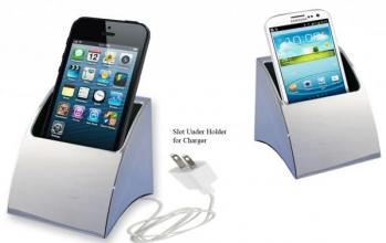 Polished Silver Metal I-Phone Holder