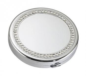 Rhinestone Silver Compact