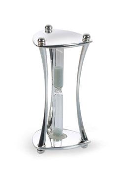 Silver Mini Triangular Hourglass