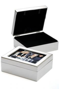 Silver and Velvet Picture Frame Box