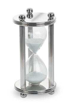 Silver and Glass Timer