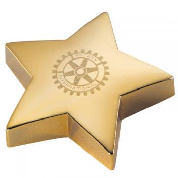 Star Shaped Paperweight with Gold Color Finish