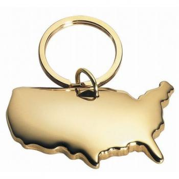 USA Gold Keychain