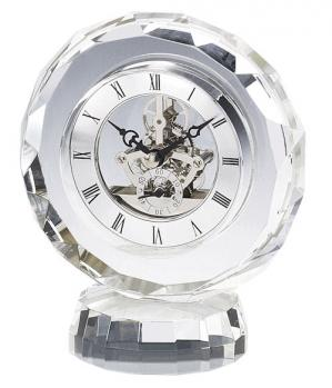 Round Crystal Corporate Clock